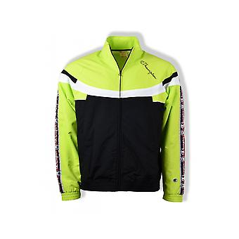 Kampioen Full Zip Track Track Top (zwart/Lime/wit)