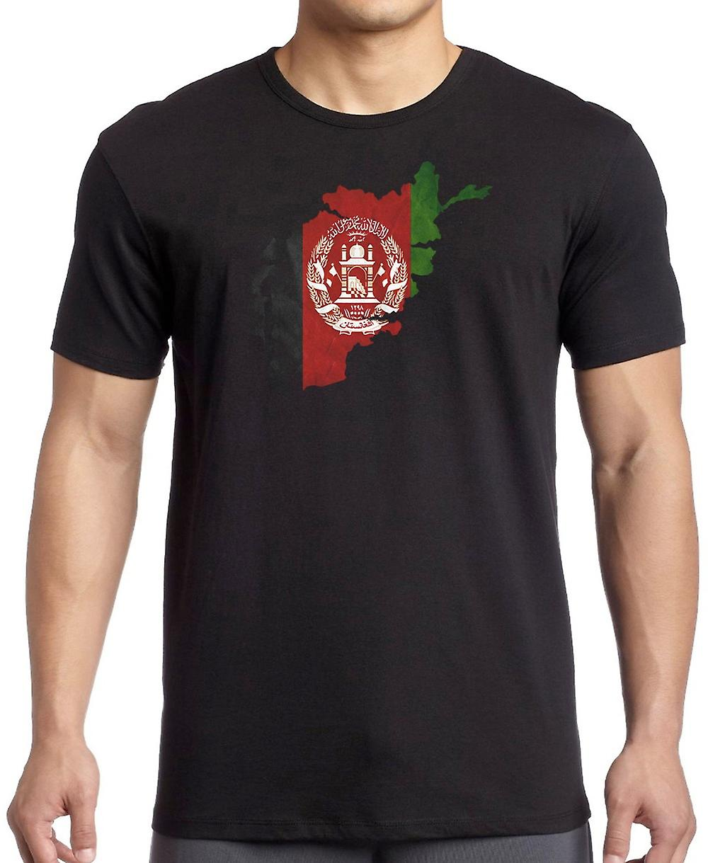 Afghanistan Afghani Flag Map -  T Shirt