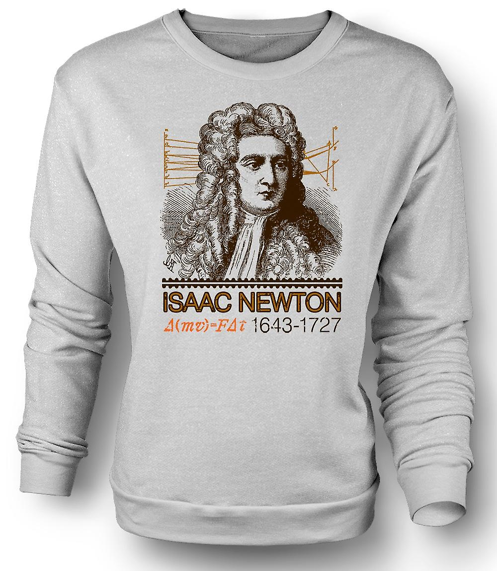 Mens Sweatshirt Isaac Newton Scientist 1643 - 1727 - Icon
