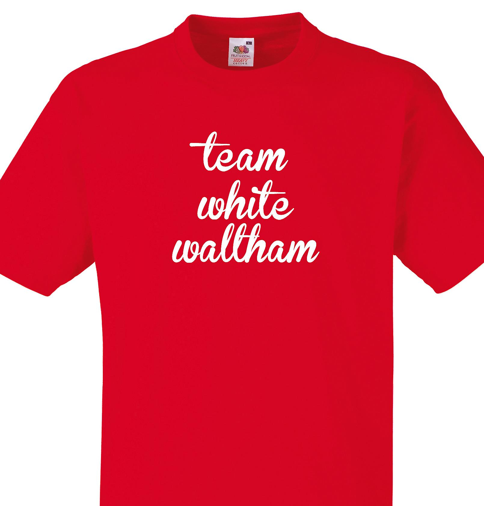 Team White waltham Red T shirt