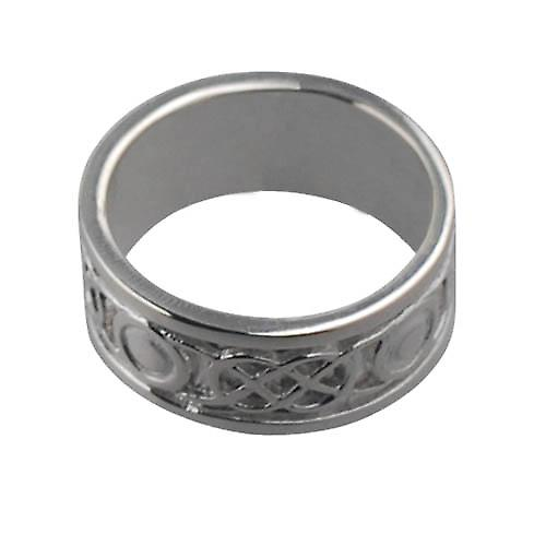 Silver 8mm Celtic Wedding Ring Size N