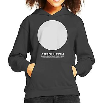 Absolutism Philosophy Symbol Kid's Hooded Sweatshirt