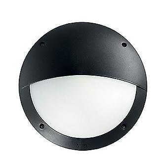 Ideal Lux - Lucia Black Half Diffuser Wall Flush IDL096698