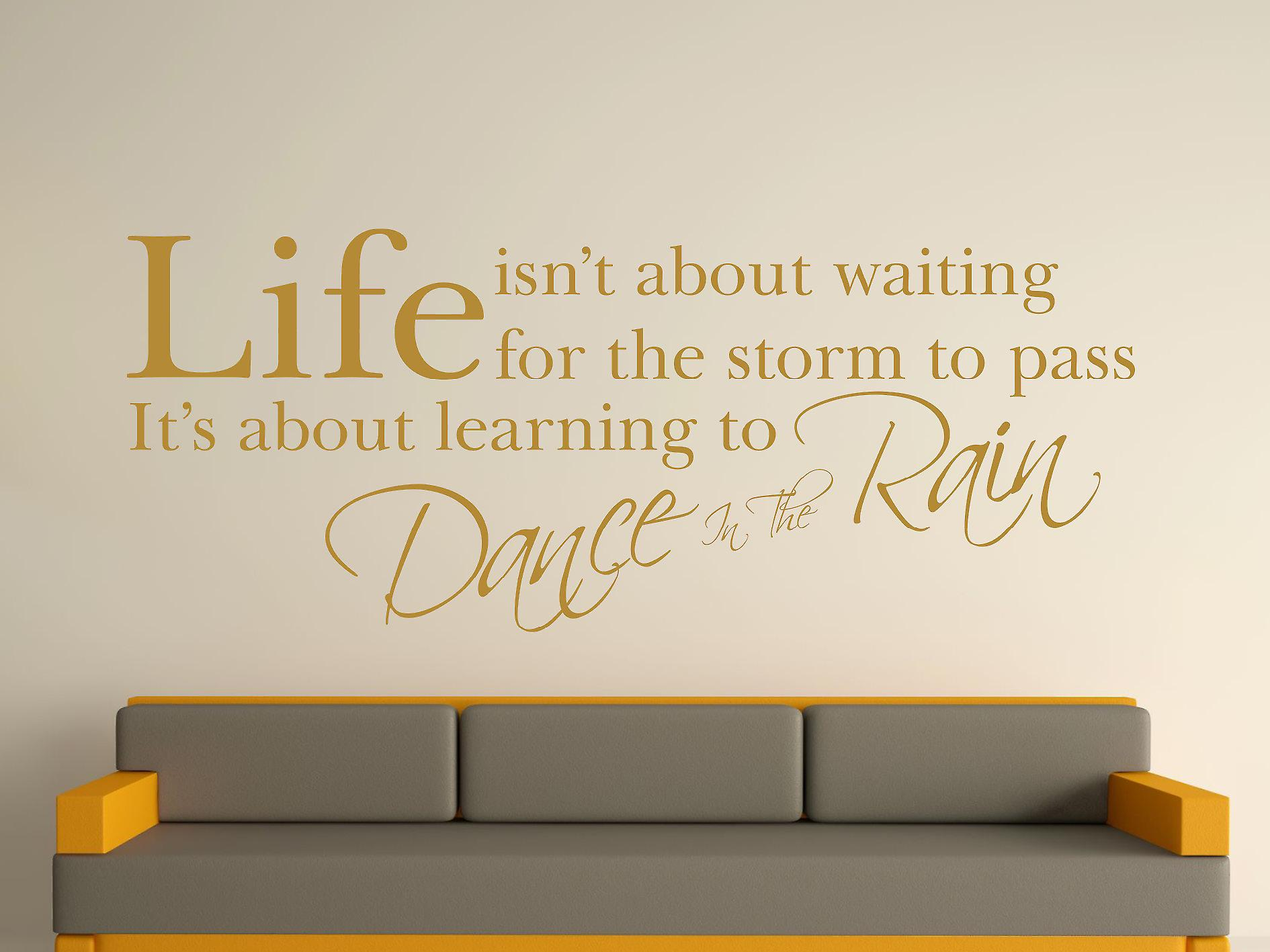 Dance In The Rain Wall Art Sticker - Gold