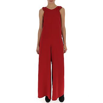 Red Valentino Red Synthetic Fibers Jumpsuit