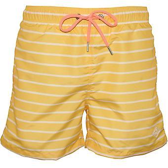 Gant Breton Stripe Swim Shorts, Lemon Zest