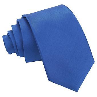 Royal Blue shantung Slim tie
