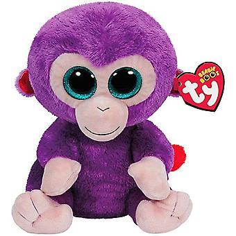 TY Beanie Boos Grapes Purple Monkey Apa Gosedjur Plysch Mjukis 24cm