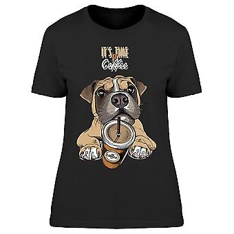 Boxer Dog With Coffee To Go Tee Women's -Image by Shutterstock