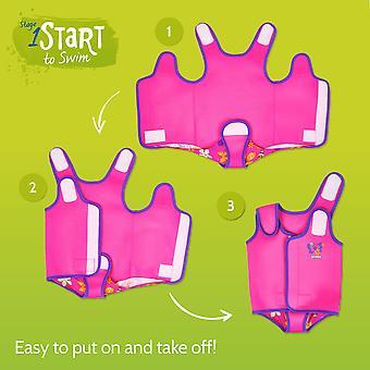 Zoggs Kids Durable Neoprene Mermaid Flower Baby Wrap Pink Features Fasteners