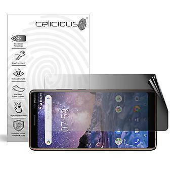 Celicious Privacy 2-Way Landscape Anti-Spy Filter Screen Protector Film Compatible with Nokia 7 plus