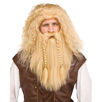 Viking Wig & Beard Blonde