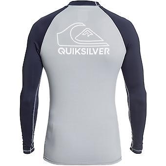 Quiksilver On Tour Long Sleeve Rash Vest in Sleet