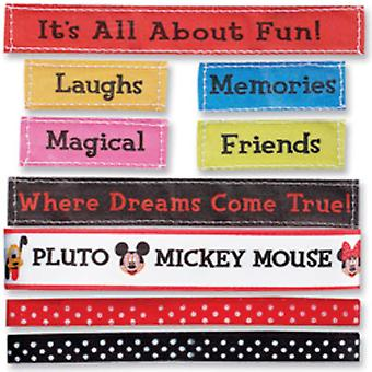 Mickey Ribbons & Adhesive Labels 9 Piece Set Drm001