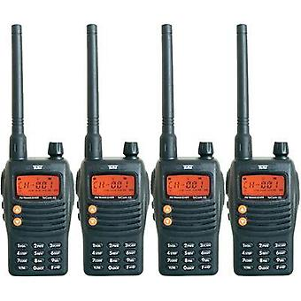 PMR handheld transceiver Team Electronic TeCom-X5 PR8582 4-piece set