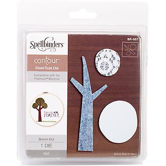 Spellbinders Steel Rule Die  -Branch Out SR057
