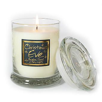 Lily Flame Scented Candle in Decorative Jar - Christmas Eve