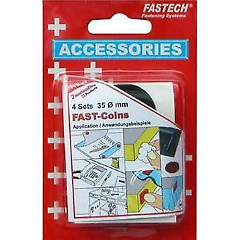 Hook-and-loop stick-on dots stick-on Hook and loop pad (Ø) 35 mm Black Fastech 683-330 8 Parts