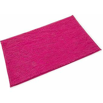 Chloe Bright Pink Microfibre Single Bath Mat 50cm x 80cm