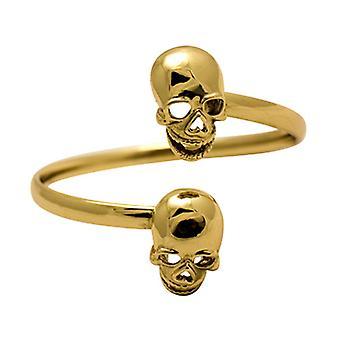 Butler & Wilson zwei Schädeln Wrap Armband - Gold