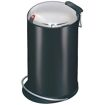Hailo Pedal bin Trento Topdesign 16 liters (Color Steel Sheet Black)