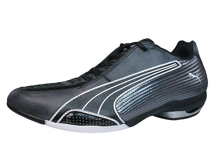 Puma Testastretta Womens Leather Leather Leather Motorsport Trainers / Shoes - Black 81cf5c