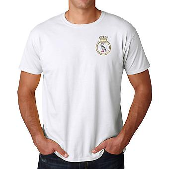 HMS Liverpool Embroidered Logo - Official Royal Navy Ringspun Cotton T Shirt