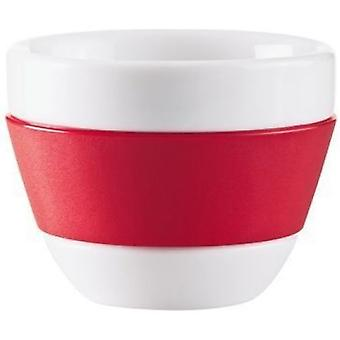 Red Koziol Espresso Handleless Coffee Cup