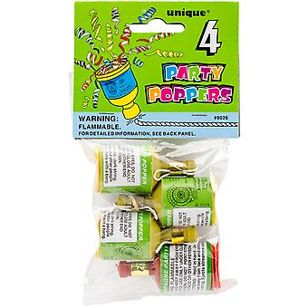 Party Favors 4/Pkg-Poppers 9026