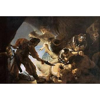 The Blinding of Samson Poster Print by  Rembrandt Van Rijn