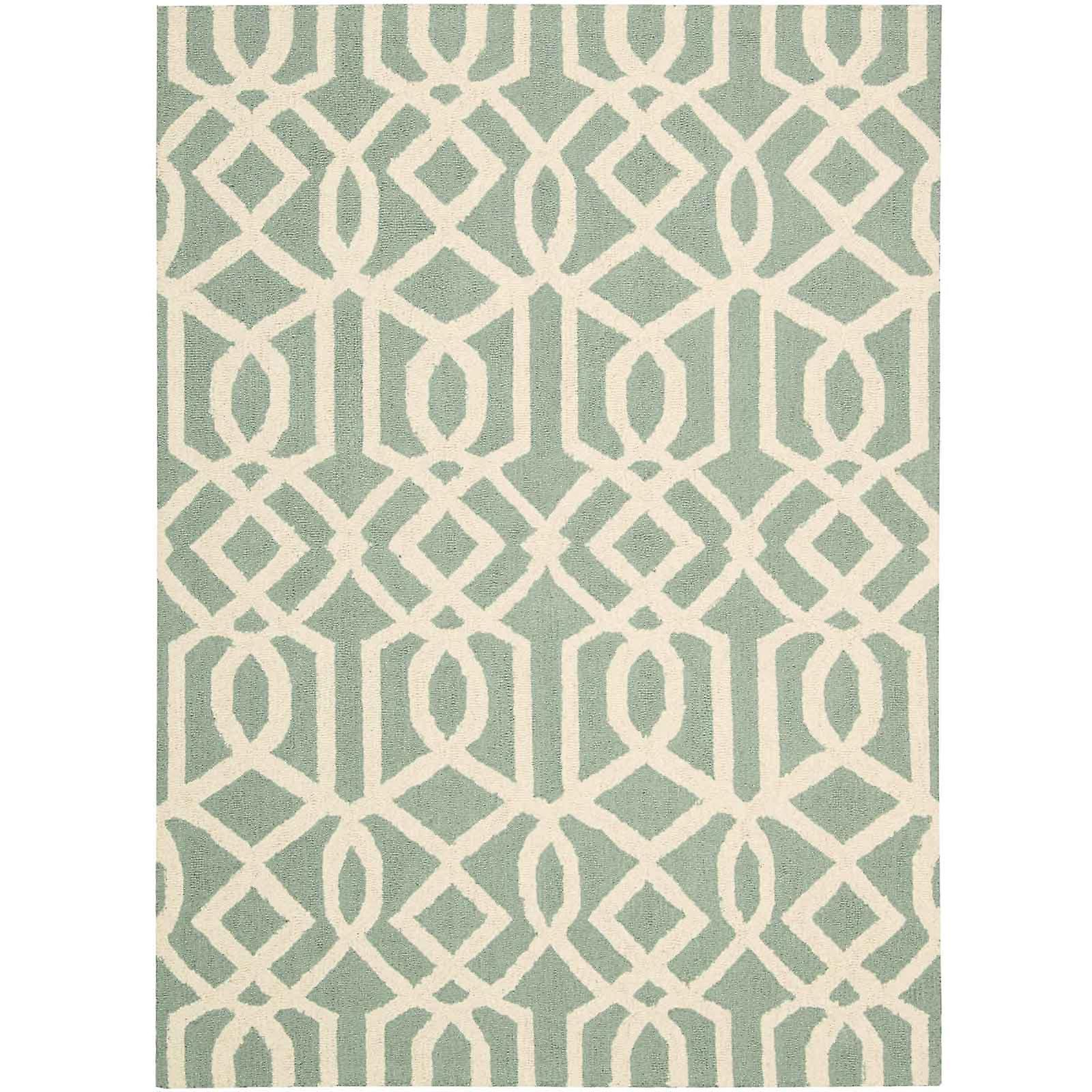 Linear Rugs Lin05 In Aqua And Ivory