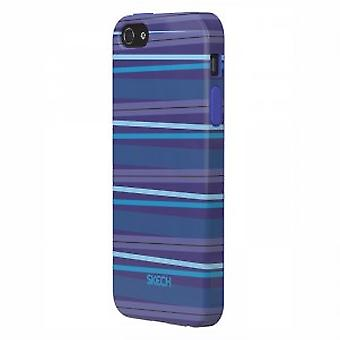 Skech Groove Snap On Case Cover iPhone 5 / 5S blue
