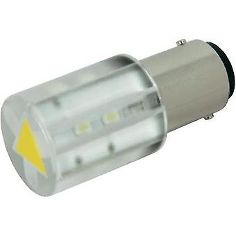 LED bulb BA15d Yellow 24 Vdc, 24 Vac 400 mcd CML