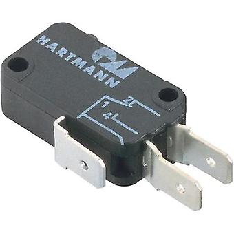 Microswitch 250 Vac 16 A 1 x On/(Off) Hartmann 04G01B01X01A momentary 1 pc(s)