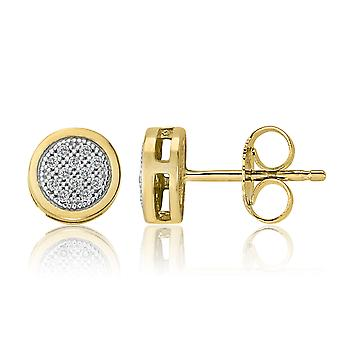 10K Yellow Gold Diamond Stud Earrings (0.05 Cttw, G-H Color, I2-I3 Clarity)