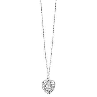 Guess ladies chain necklace stainless steel Silver heart UBN71521