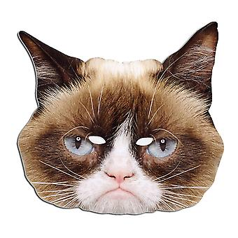 Grumpy Cat Animal Single Card Party Face Mask