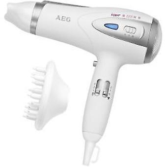 AEG Htd 5584 White / metallic (Schoonheid , Capillair , Gegoten)