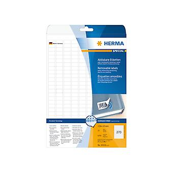 Labels white HERMA Movables 17, 8 x 10 A4 6750 pcs.
