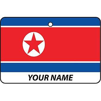 Korea Dpr flagga personlig bil luftfräschare