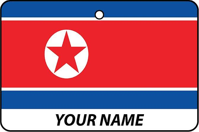 Korea Dpr Flag Personalised Car Air Freshener