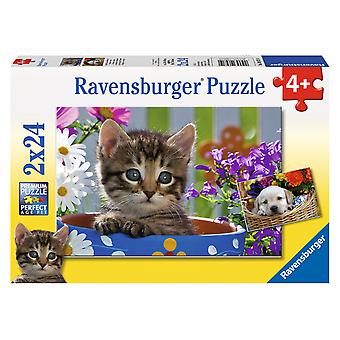 Ravensburger Puzzle Doble 24 Piezas Gato Y Perro (Toys , Preschool , Puzzles And Blocs)