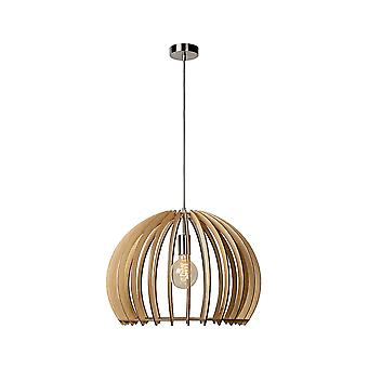 Lucide BOUNDE Pendant E27 D50 H37cm Light Wood