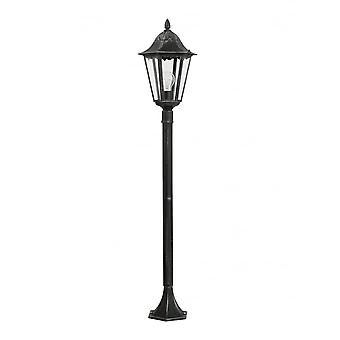 Eglo Navedo 1 Light Outdoor Post Lamp Black/Silver IP44