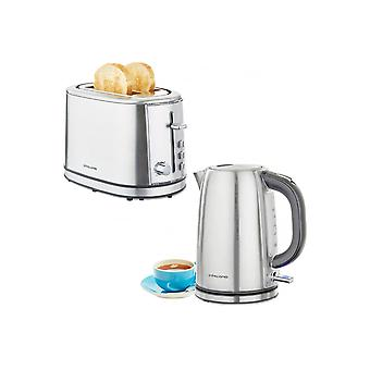 Andrew James Argentum Kettle And Toaster Set
