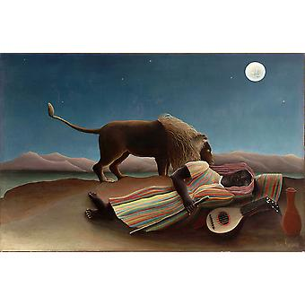 Henri Rousseau - Under the Moon Poster Print Giclee