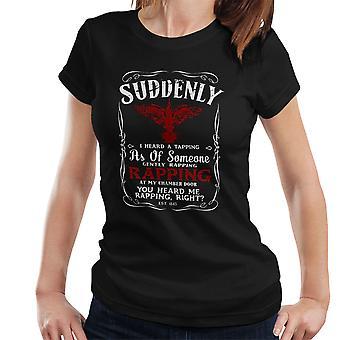Dravens Cuervo el cuervo negro camiseta para mujeres