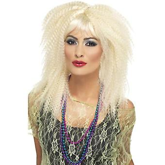 Smiffys 80S Trademark Crimp Wig Blonde Layered Long With Fringe (Costumes)