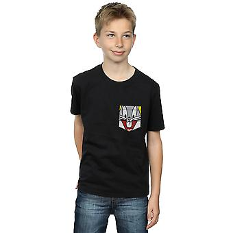 Looney Tunes Boys Bugs Bunny Face Faux Pocket T-Shirt