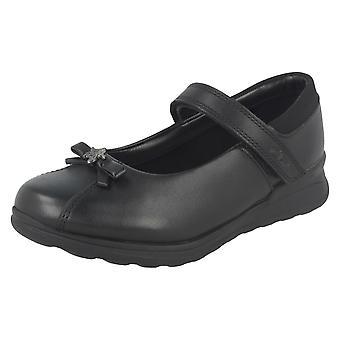 Girls Gloforms By Clarks Bow Trim School Shoes Mariel Wish Inf